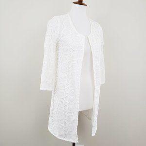 ZARA 》White Lace Open Jacket Size Small